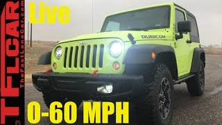 Download Live! 2017 Jeep Wangler Rubicon Hard Rock 0-60 MPH Review: How Fast Is the Wrangler? Video