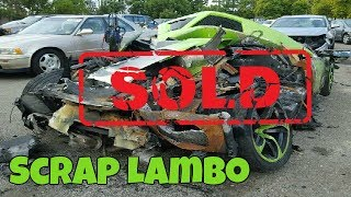 Download DESTROYED Lamborghini sells for CRAZY MONEY at Salvage Car Auction Video
