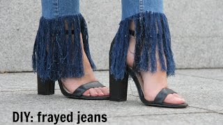 Download DIY: Frayed jeans Video