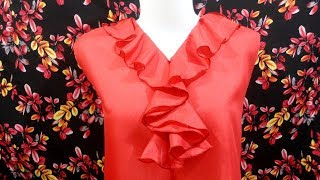 Download How to sewing a woman dress with spiral neck design Video