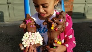 Download Kids Pretend Play with Chocolate Sheep Surprise Toys! Family Fun Video Video