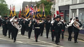 Download The Waterloo Band and Bugles of the Rifles in Ross on Wye 2017 Video