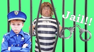 Download Sketchy Mechanic in the Run Away Police Car! Brother Kid Cops Chase him Down! Funny Parody Video Video