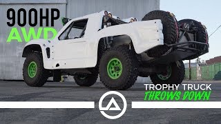 Download 900HP AWD Trophy Truck throws down Video