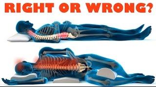 Download How to improve your health with the right sleeping position - right and wrong sleeping posture Video