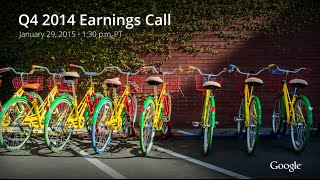 Download Q4 2014 Earnings Call Video