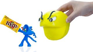 Download CLAY MIXER: 3D M&M CHOCOLATE PACMAN 💖 Play Doh Cartoons Video