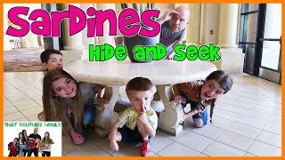 Download SARDiNES Hide And Seek At Huge Hotel Resort! / That YouTub3 Family Family Channel Video