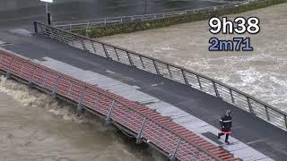 Download Inondations 2018, sanctuaire de Lourdes : la journée du mercredi 13 juin jusqu'au pic de 12h55 Video
