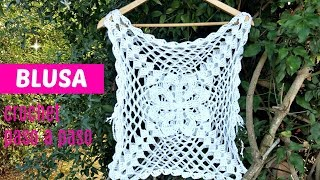 Download TEJE BLUSA A CROCHET CON GRANNY SQUARE ❗ Video