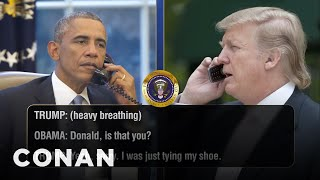 Download Even More Leaked Phone Calls Between Donald Trump & Barack Obama - CONAN on TBS Video