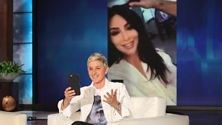 Download Ellen FaceTimes with Kim Kardashian Video