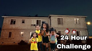 Download 24 HOUR OVERNIGHT CHALLENGE IN ABANDONED HOUSE! WE FOUND A HIDDEN TREASURE   Familia Diamond Video