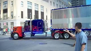 Download Transformers 3 Detroit Set Autobots drive off, Optimus Prime, BumbleBee, Ratchet, Ferrari, Corvette Video