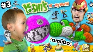 Download Dad & Chase play YOSHI'S WOOLY WORLD #3: No Pokemon Animals can Cross! (More FGTEEV Amiibo Action!) Video