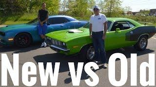 Download Old School Muscle vs New School Muscle !! Hemi Cuda vs Hellcat !! Video
