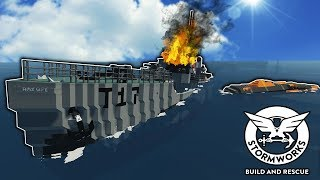 Download SINKING WARSHIP SURVIVAL & RECOVERY! - Stormworks: Build and Rescue Gameplay - Sinking Ship Video