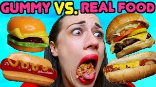 Download GUMMY FOOD VS. REAL FOOD! Video
