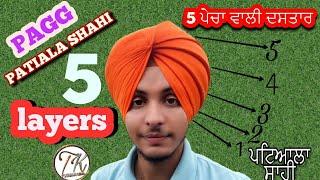 Download patiala shahi pagg, 5 Layers dastar, turban king jaskarandeep singh Video