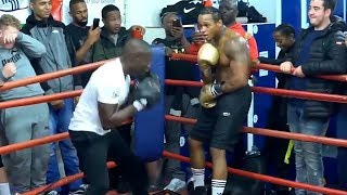 Download ANTHONY YARDE SHOWS OFF SLICK DEFENSE AS HIS TRAINERS TRY TO BEAT THE CRAP OUT OF HIM DURING WORKOUT Video