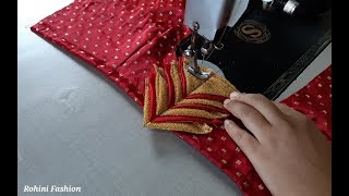 Download Very simple and easy designer blouse back neck design|cutting and stitching back neck. Video