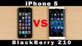 Download BlackBerry Z10 vs iPhone 5 - Full In-Depth Comparison Video