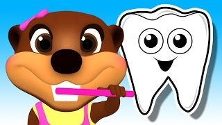 Download Tooth Brush Color Game | Brush Your Teeth Song | Learn Colours & Good Habits with Busy Beavers Video