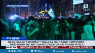 Download Daan-daang estudyante, nagsagawa ng anti-Marcos rally sa Katipunan Avenue Video
