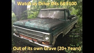 Download 68 F100 Revival (20 Years Forgotten in the Woods) - We Drive Her Out!!! Grassroots Roadkill Video