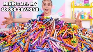 Download Mixing Together ALL My 10,000 Crayons Into GIANT Crayons Video