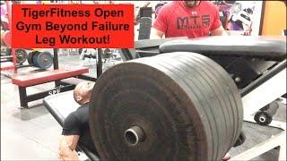 Download TigerFitness Open Gym Beyond Failure Leg Workout! Video