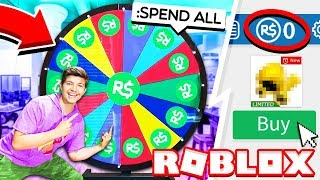 Download SPINNING-THE-WHEEL to SPEND ALL MY ROBUX!? (Roblox IRL) Video