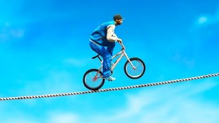 Download IMPOSSIBLE BMX TIGHTROPE CHALLENGE (GTA 5 Funny Moments) Video