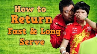 Download How to Return Long & Fast Serve Like a Pro Video