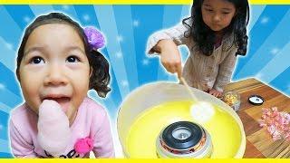 Download ●普段遊び●HIMAWARI飴で綿菓子作ったよ♡まーちゃん【5歳】おーちゃん【3歳】 Video