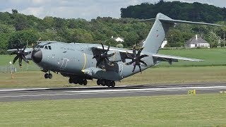 Download 2 RAF A400Ms Landing at Prestwick Airport Video