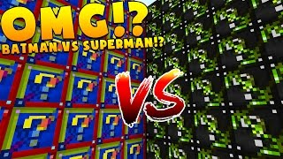 Download Minecraft 1V1V1V1 BATMAN VS SUPERMAN LUCKY BLOCK WALLS! | (Minecraft Modded Minigame) Video