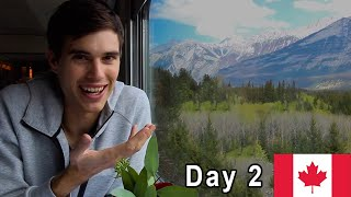 Download Crossing Canada by Train 🇨🇦DAY 2: The Rocky Mountains (VIA RAIL ″the Canadian″) Video