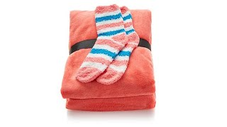 Download Soft Cozy Throw and Pair of Socks Plush Set Video