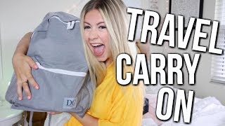 Download What's In My Travel Carry On + I DESIGNED A BACKPACK! Video