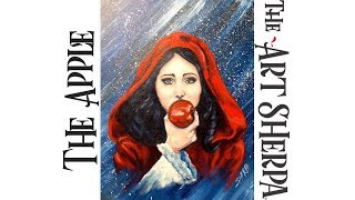 Download How to paint Acrylic on Canvas Snow White and the Apple LIVE About Face #22 Video
