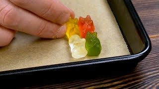 Download Put 4 Gummy Bears In The Corner Of The Sheet Pan. After 2 Minutes, Wow! Video