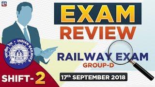 Download Railway Group D 2018 EXAM REVIEW | SHIFT 2 | जानें क्या आया Exam में | 17.09.18 Video