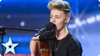 Download 14 Year old songwriter Bailey McConnell impresses with his own song   Britain's Got Talent 2014 Video