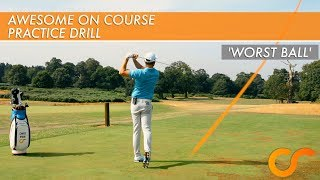 Download AWESOME ON COURSE PRACTICE GAME - 'Worst Ball' Video