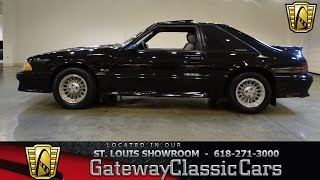 Download 1989 Ford Mustang GT Stock #7148 Gateway Classic Cars St. Louis Showroom Video
