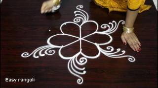 Download latest friday kolam designs with dots || simple muggulu designs || easy rangoli designs with dots Video