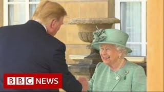 Download Trump meets the Queen at Buckingham Palace - BBC News Video