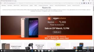 Download Trick To Buy Redmi 4A Flash Sale Script Auto-Buy on Amazon Video