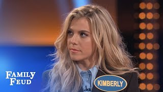 Download The Band Perry's Kimberly KILLS on Fast Money | Celebrity Family Feud | OUTTAKE Video